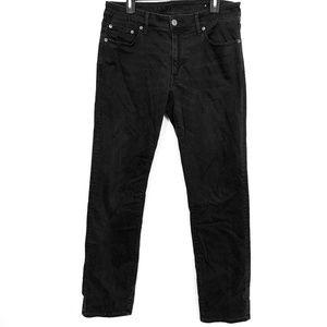 AMERICAN EAGLE ORIGINAL STRAIGHT Black Jeans 33x34